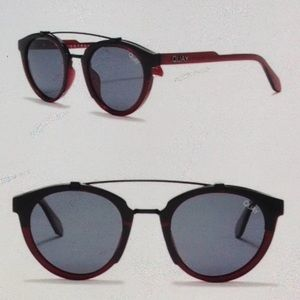Quay Allover Polarized Maroon Sunnies